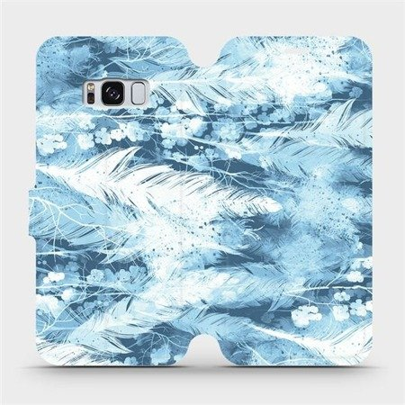 Flipové pouzdro Mobiwear na mobil Samsung Galaxy S8 - M058S Světle modrá horizontální pírka