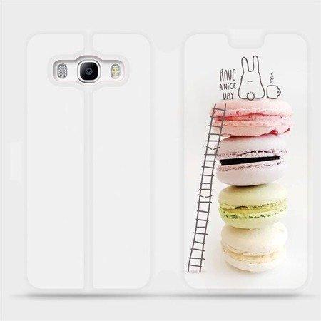 Flipové pouzdro Mobiwear na mobil Samsung Galaxy J5 2016 - M090P Makronky - have a nice day