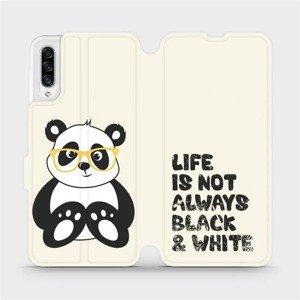 Flipové pouzdro Mobiwear na mobil Samsung Galaxy A30s - M041S Panda - life is not always black and white