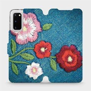 Flipové pouzdro Mobiwear na mobil Samsung Galaxy S20 - MD05P Džínové květy