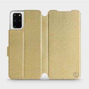 Flipové pouzdro Mobiwear na mobil Samsung Galaxy S20 Plus v provedení C_GOP Gold&Orange s oranžovým vnitřkem