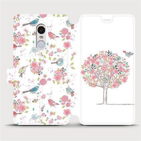 Flipové pouzdro Mobiwear na mobil Xiaomi Redmi Note 4 Global - M120S Strom a ptáčci