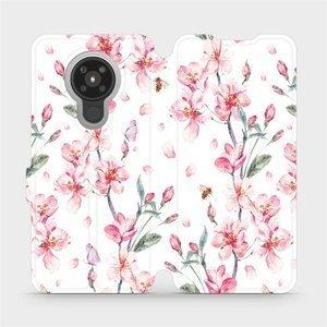 Flipové pouzdro Mobiwear na mobil Nokia 5.3 - M124S Růžové květy
