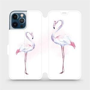 Flipové pouzdro Mobiwear na mobil Apple iPhone 12 Pro Max - M005S Plameňáci