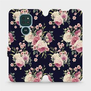 Flipové pouzdro Mobiwear na mobil Motorola Moto G9 Play - V068P Růžičky