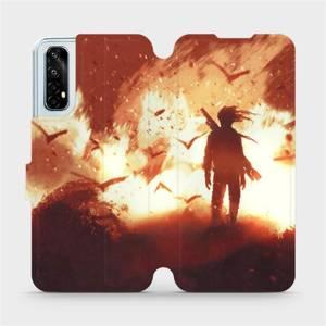 Flipové pouzdro Mobiwear na mobil Realme 7 - MA06S Postava v ohni