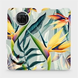 Flipové pouzdro Mobiwear na mobil Xiaomi MI 10T Lite - MC02S Žluté velké květy a zelené listy