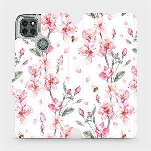 Flipové pouzdro Mobiwear na mobil Motorola Moto G9 Power - M124S Růžové květy