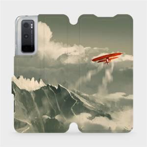 Flipové pouzdro Mobiwear na mobil Vivo Y70 - MA03P Oranžové letadlo v horách