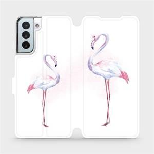 Flipové pouzdro Mobiwear na mobil Samsung Galaxy S21 Plus 5G - M005S Plameňáci