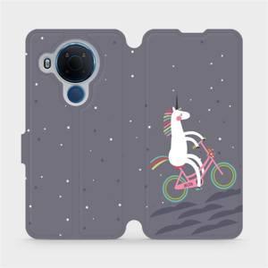 Flipové pouzdro Mobiwear na mobil Nokia 5.4 - V024P Jednorožec na kole