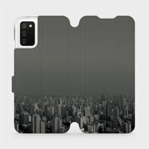 Flipové pouzdro Mobiwear na mobil Samsung Galaxy A02s - V063P Město v šedém hávu