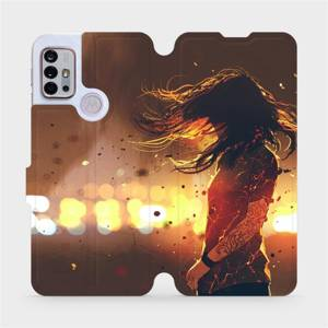 Flipové pouzdro Mobiwear na mobil Motorola Moto G10 - MA02S Tetovaná dívka