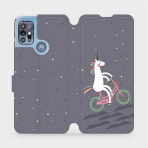 Flipové pouzdro Mobiwear na mobil Motorola Moto G20 - V024P Jednorožec na kole