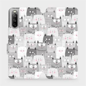 Flip pouzdro Mobiwear na mobil Sony Xperia 10 III - M099P Kočičky