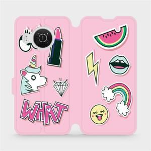 Flip pouzdro Mobiwear na mobil Nokia X10 - M129S Růžové WHAT