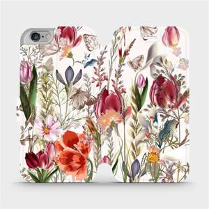 Flip pouzdro Mobiwear na mobil Apple iPhone 6s / iPhone 6 - MP01S Rozkvetlá louka