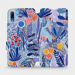 Flip pouzdro Mobiwear na mobil Huawei P Smart Z - MP03P Modrá květena