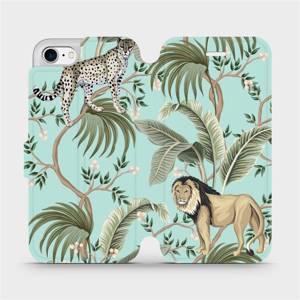 Flip pouzdro Mobiwear na mobil Apple iPhone 7 - MP08S Dvě kočičky