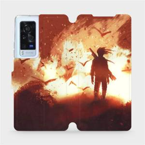 Flip pouzdro Mobiwear na mobil Vivo X60 Pro 5G - MA06S Postava v ohni