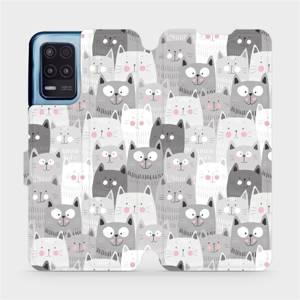 Flip pouzdro Mobiwear na mobil Realme 8 5G - M099P Kočičky