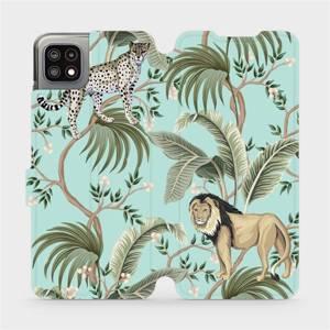 Flip pouzdro Mobiwear na mobil Samsung Galaxy A22 5G - MP08S Dvě kočičky
