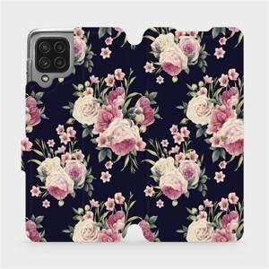 Flip pouzdro Mobiwear na mobil Samsung Galaxy M22 - V068P Růžičky