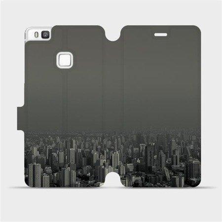 Flipové pouzdro Mobiwear na mobil Huawei P9 Lite - V063P Město v šedém hávu