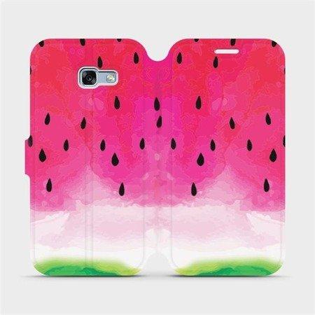 Flipové pouzdro Mobiwear na mobil Samsung Galaxy A3 2017 - V086S Melounek