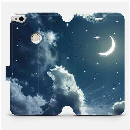 Flipové pouzdro Mobiwear na mobil Huawei P9 Lite 2017 - V145P Noční obloha s měsícem