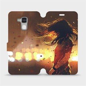 Flipové pouzdro Mobiwear na mobil Honor 7 Lite - MA02S Tetovaná dívka