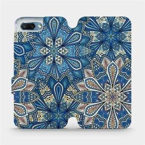 Flipové pouzdro Mobiwear na mobil Honor 10 - V108P Modré mandala květy