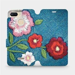 Flipové pouzdro Mobiwear na mobil Xiaomi Redmi 6 - MD05P Džínové květy