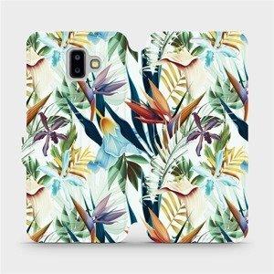 Flipové pouzdro Mobiwear na mobil Samsung Galaxy J6 Plus 2018 - M071P Flóra