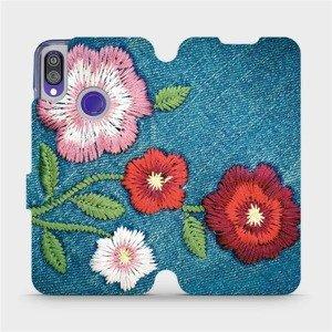 Flipové pouzdro Mobiwear na mobil Xiaomi Redmi Note 7 - MD05P Džínové květy