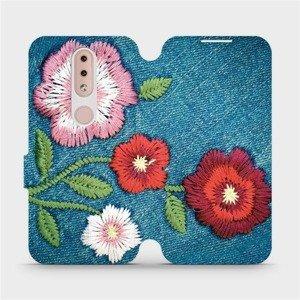 Flipové pouzdro Mobiwear na mobil Nokia 4.2 - MD05P Džínové květy