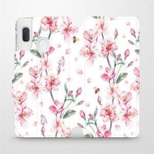 Flipové pouzdro Mobiwear na mobil Samsung Galaxy A20e - M124S Růžové květy