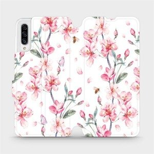 Flipové pouzdro Mobiwear na mobil Samsung Galaxy A30s - M124S Růžové květy