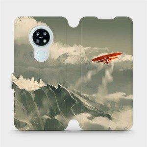 Flipové pouzdro Mobiwear na mobil Nokia 6.2 - MA03P Oranžové letadlo v horách