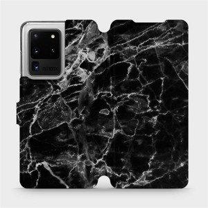 Flipové pouzdro Mobiwear na mobil Samsung Galaxy S20 Ultra - V056P Černý mramor