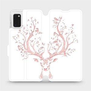 Flipové pouzdro Mobiwear na mobil Samsung Galaxy A41 - M007S Růžový jelínek