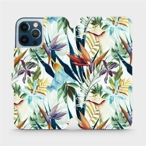 Flipové pouzdro Mobiwear na mobil Apple iPhone 12 Pro Max - M071P Flóra