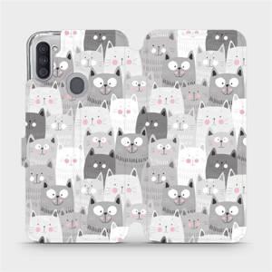 Flipové pouzdro Mobiwear na mobil Samsung Galaxy M11 - M099P Kočičky