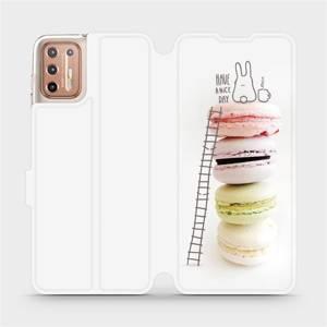 Flipové pouzdro Mobiwear na mobil Motorola Moto G9 Plus - M090P Makronky - have a nice day