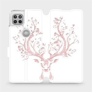 Flipové pouzdro Mobiwear na mobil Motorola Moto G 5G - M007S Růžový jelínek