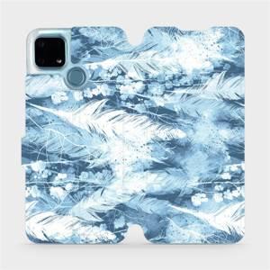 Flip pouzdro Mobiwear na mobil Realme 7i - M058S Světle modrá horizontální pírka