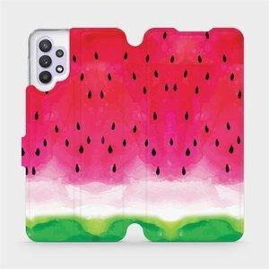 Flipové pouzdro Mobiwear na mobil Samsung Galaxy A32 5G - V086S Melounek