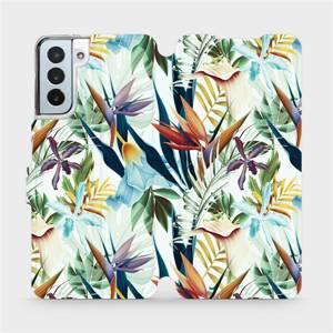 Flipové pouzdro Mobiwear na mobil Samsung Galaxy S21 Plus 5G - M071P Flóra