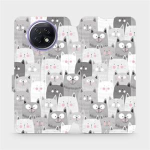 Flipové pouzdro Mobiwear na mobil Xiaomi Redmi Note 9T 5G - M099P Kočičky