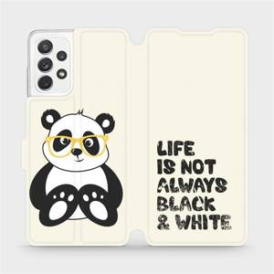 Flipové pouzdro Mobiwear na mobil Samsung Galaxy A72 - M041S Panda - life is not always black and white